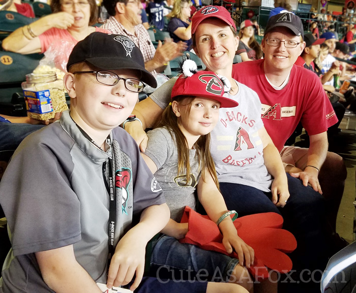 Family fun at a D-backs game