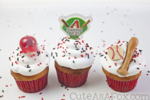 Baseball Party: Arizona Diamondbacks Cupcakes