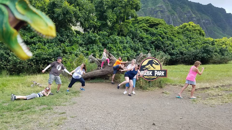 Jurassic Park set at Kualoa Ranch in Oahu, HI