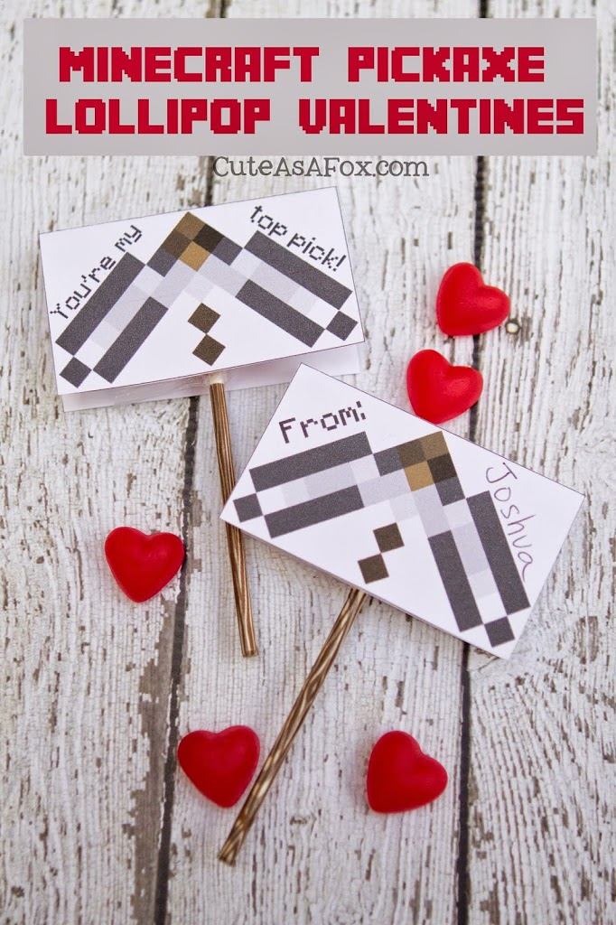 This is a photo of Minecraft Printable Valentines intended for cute
